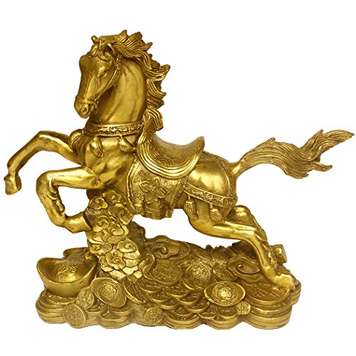 (Brass Money Running Horse Statues Chinese Handmade Figurines Home Decor Collectible Gift BS041)