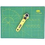 "Alikeke Best Collaboration:Gridded Cutting Mat 9"" X 12""(A4) + 28mm Rotary Cutter"