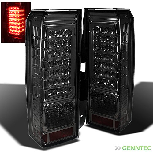 For Smoked 2006-2010 Hummer H3 LED Tail Lights Brake Lamp New Tail Lights Pair Left+Right/2007 2008 Hummer Tail