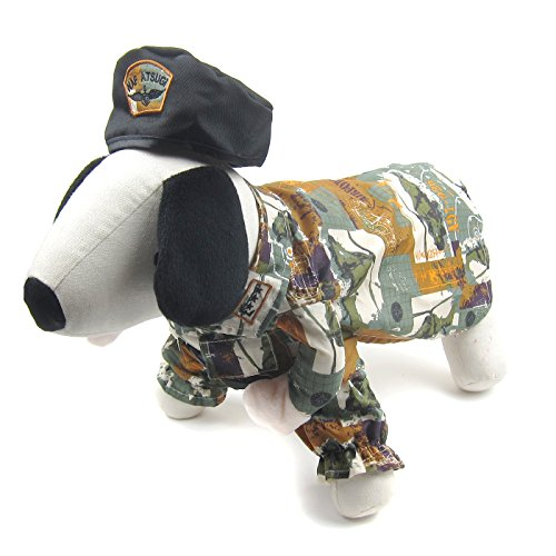 Alfie Pet by Petoga Couture - Ryan Army Uniform Costume with Hat - Size: (Ryan Costume)