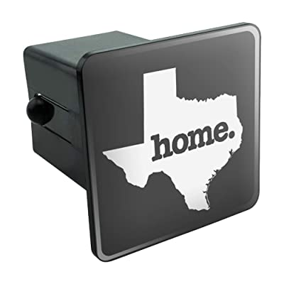 Graphics and More Texas TX Home State Solid Dark Gray Grey Officially Licensed Tow Trailer Hitch Cover Plug Insert: Automotive