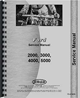 ford 5000 tractor data service manual data jensales ag products rh amazon com ford 5000 service manual free download ford 5000 service manual free download