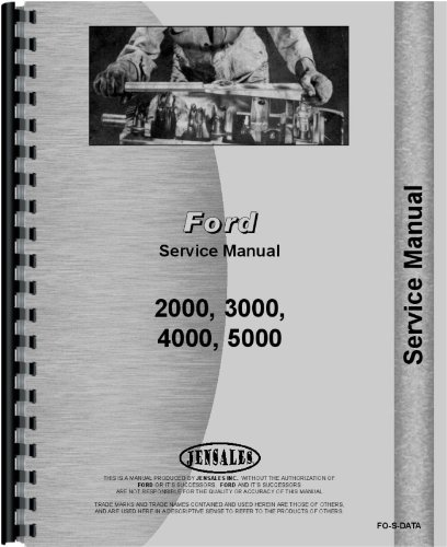 Ford 5000 Tractor Data Service Manual (Data) PDF Text fb2 ebook