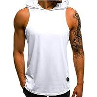Tank Tops Mens Summer Letter Printed Slim Sleeveless Vest Blouse by Gergeos