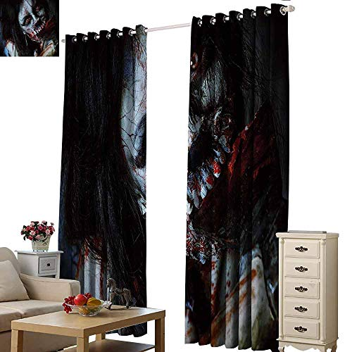 Homrkey Kids Room Curtains Zombie Scary Dead Woman