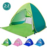 Amagoing Automatic Pop Up Beach Tent 2-3 Person Cabana Sun Shelter Great for Outdoor Activities and Beach Traveling(Green)