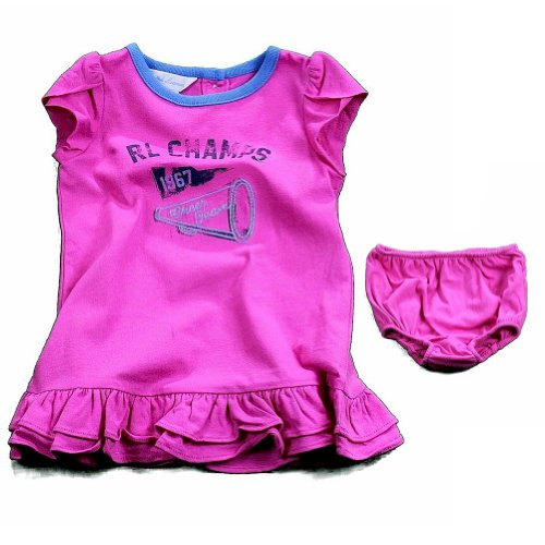 Ralph Lauren Polo Infant Girl's 2-Piece Graphic Dress Set (24 Months, Pink)