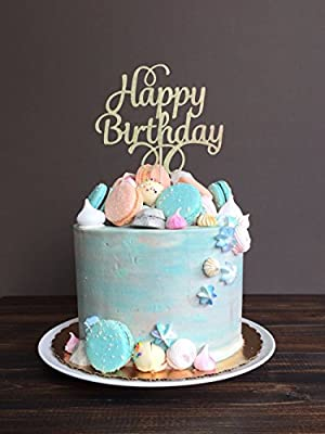 Astounding Amazon Com Areena Shop Script Happy Birthday Cake Toppers Baby Birthday Cards Printable Giouspongecafe Filternl