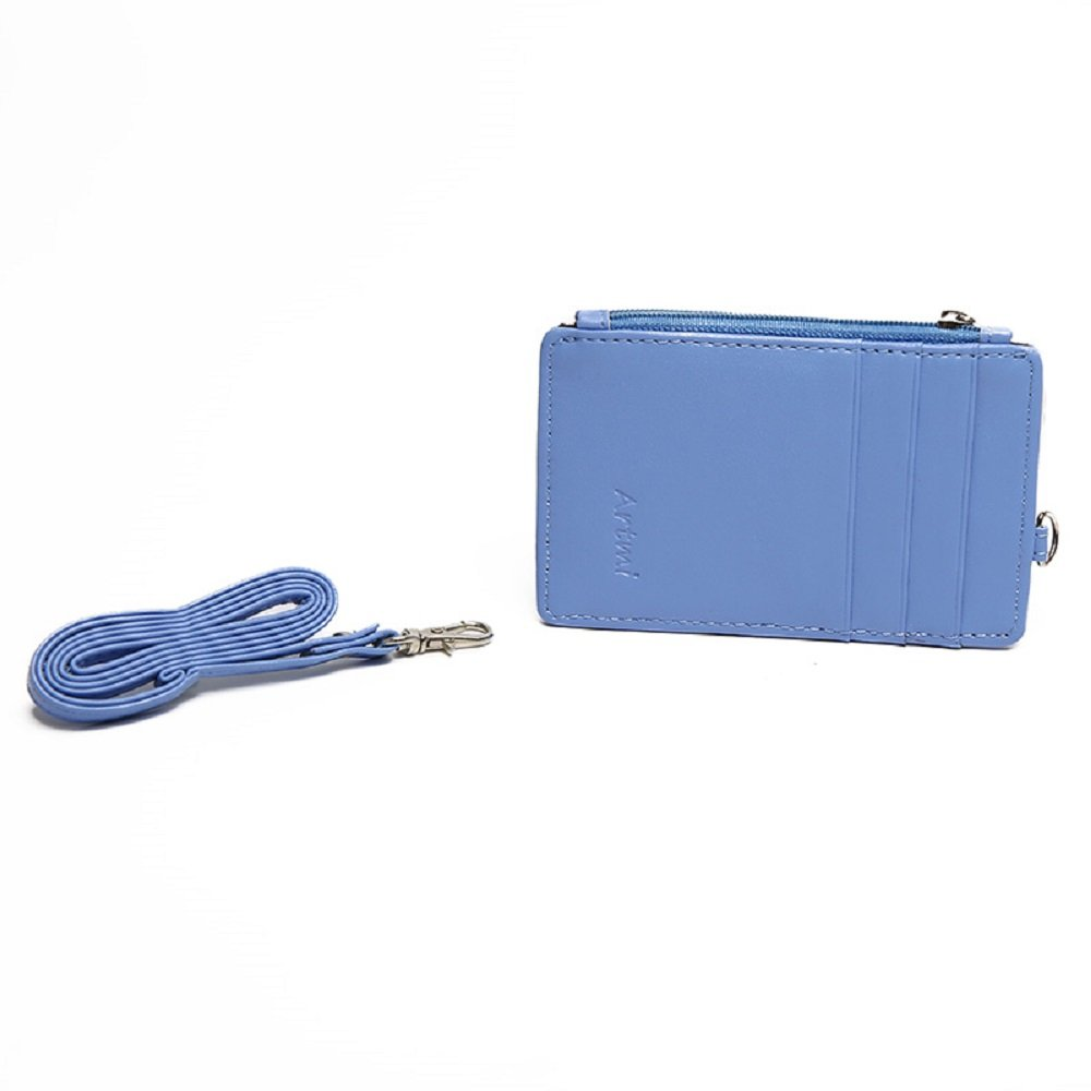Artmi Womens RFID Blocking ID Cases with Neck Strap Card Holder with Strong Band Lanyard AW065-2