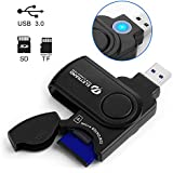2 in 1 USB 3.0 Memory Card Reader/Writer (5GB/s Super Speed Read SD Card & Micro SD Card) Memory Card USB Adapter Card Cover SDXC, UHS-I SD, SDHC, SD, Micro SDXC, Micro SDHC, Micro SD, MMC