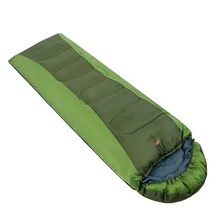 Sobre saco de dormir primavera y otoño cálido algodón almuerzo romper campamento camping dormir bolsa azul