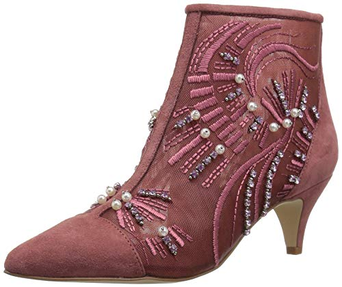 - Sam Edelman Women's Kami Fashion Boot, Misty Rose Abstract Wave Embroidery, 6 M US