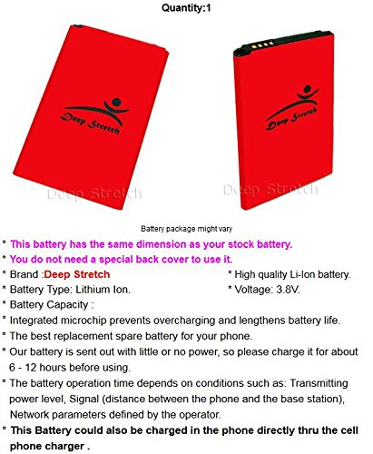 [LG Tribute HD Battery] High Power 2400mAh Spare Rechargeable Battery for LG Tribute HD LS676 Android phone
