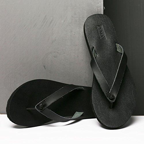 pieghevoli Sandali Sandali Antiscivolo Infradito da Sandali e Black pantofole Uomo AIHUWAI Uomo Estate Casual Sandali outdoor Piedi uomo qZxCwAfUzn