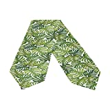 Oreayn Tropical Table Runner 90 inch Green Weddings Parties Kitchen Table Dressers Living Room End Tables, Tropical Monstera Leaf Table Cloth Runner Dining Outdoor Dinner Coffee Table