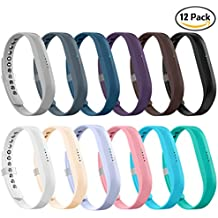 LEEFOX Fitbit Flex 2 Bands, Adjustable Fit Bit Flex 2 Accessories Silicon Replacement Wristbands w/ Fastener Clasp Fitness Strap for Original Fitbit Flex 2, No Tracker …