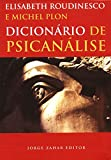 capa de Dicionário De Psicanálise