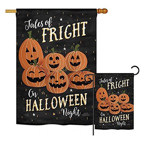 Breeze Decor FK112083-P3 Fright on Halloween Night Fall Halloween Impressions Decorative Vertical 28