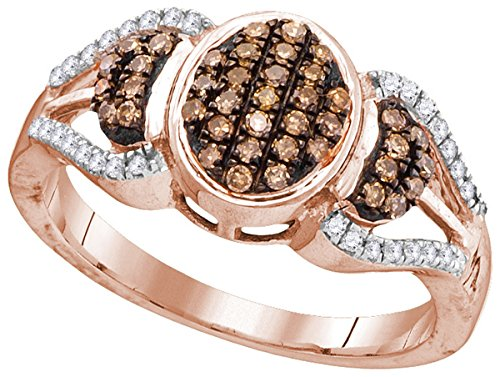 Oval Diamond Cluster Ring - 5