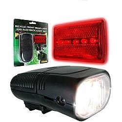 Doaaler(TM) Whetstone Bicycle Front Headlight and 5 LED Back Light Set 75-275 - Brand New