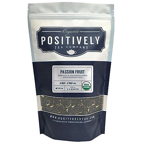 Organic Passion Fruit Black Tea, Loose Leaf Tea Bag, Positively Tea LLC. (1 LB.)