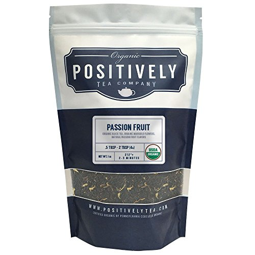 Organic Passion Fruit Black Tea, Loose Leaf Tea Bag, Positively Tea LLC. (1 LB.)