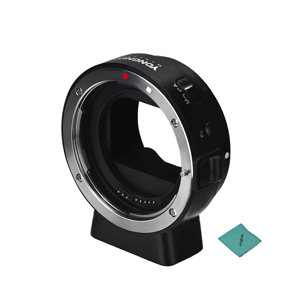 YONGNUO EF-E II レンズマウントアダプターリング オートフォーカス Andoerクリニングクロス付き キヤノンEF/EF-Sシリーズ用 YONGNUOレンズ用 ソニーEマウントカメラ用 ソニーa6300 a6000 A7MII A7RIII A7用   B07RWTR228