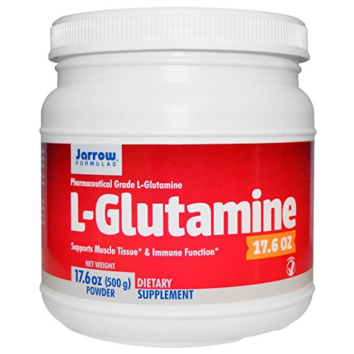 Jarrow Formulas, L-Glutamine, 17.6 oz (500 g) Powder, Vitaminder, Power Shaker Bottle, 20 oz Bottle
