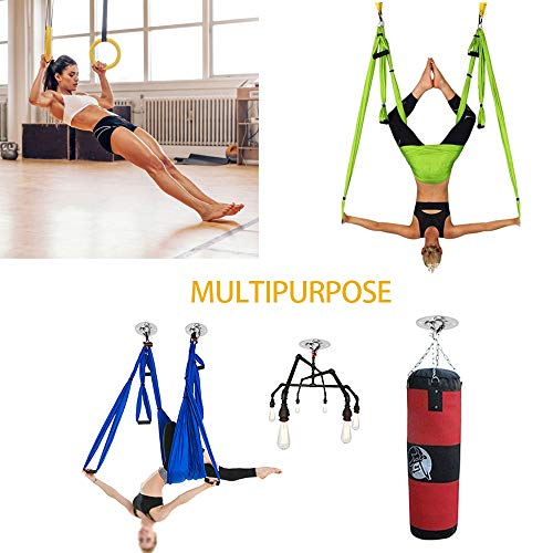 dasaba 2 Sets Wall&Ceiling Mount Bracket/Anchor for Suspension Straps, 2200 lbs Capacity Heavy-Duty Hanging Hardware, Fixed Plate for Punching Boxing, Battle Ropes, Yoga Swings, Swing Hanger