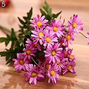 Finance Plan Clearance Sale 1 Bouquet 9 Heads Artificial Daisy Flower Plant Outdoor Indoor Wedding Decor Purple 8