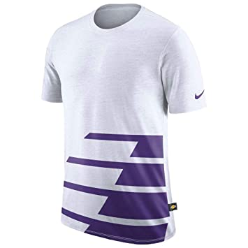 5b2385822 Nike Los Angeles Lakers DNA T-Shirt pour Homme Blanc/Violet Taille ...