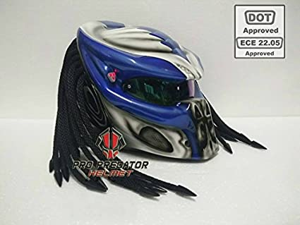 258302b4 Image Unavailable. Image not available for. Color: Custom Predator  Motorcycle Dot Approved Helmet ...