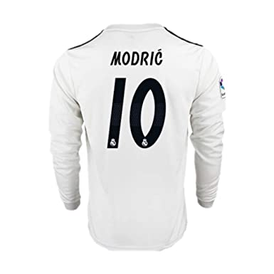 pretty nice 44ae1 0895a 18/19 Season Real Madrid #10 Luka Modric Home Mens Long Sleeve Soccer  Jersey Color White