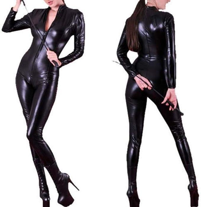 WWC Catwoman Mono Cuero de la PU Catwoman Disfraz Catsuit de ...