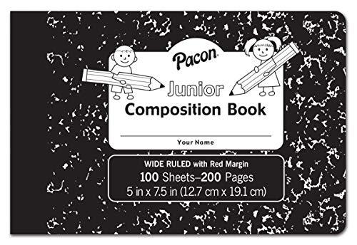 Pacon PMMK37090 Junior Composition Book, 3/8