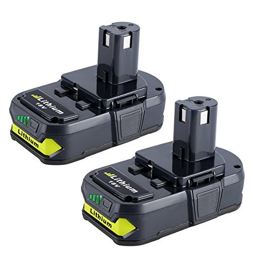 Biswaye 2 Pack 18V Lithium Battery for Ryobi, 2.5Ah Replacement Battery for Ryobi ONE+ Plus 18V Cordless Power Tools Lithium Battery P102 P103 P104 P105 P107 P108 P109 P161