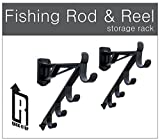 Marketing Holders Rack-It-Up Fishing Rod and Reel Wall Mount Garage Rack Skis Yard Tools Golf Club Holder Orgainizer (Set of 1) For Sale