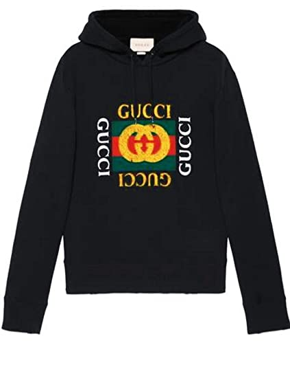 c91f753c9 Amazon.com: Gucci logo , Gucci T-shirt For Men- BlackGucci logo ...