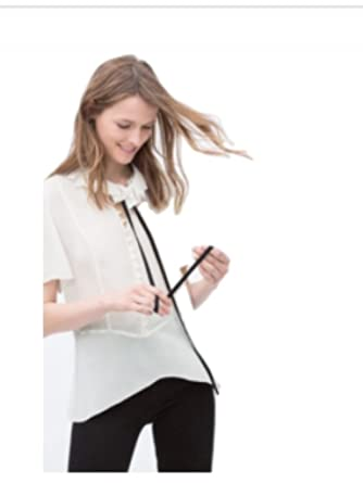 7e662124323883 Zara Tie Neck Blouse at Amazon Women's Clothing store: