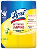 Lysol Disinfecting Wipes, Lemon & Lime Blossom Twin Pack, 70 ea