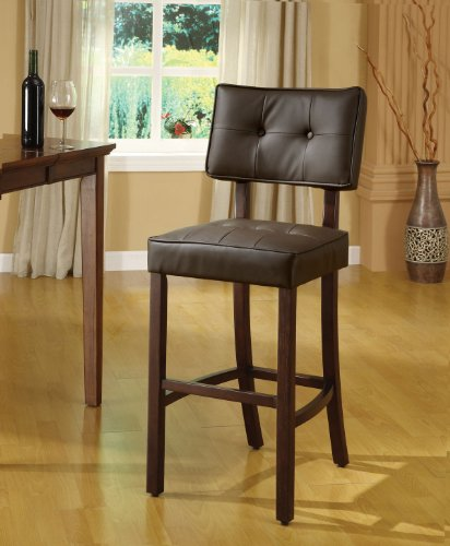 ACME 10082 Ezrela Stool, Brown Polyurethane and Walnut Finish, 45-Inch