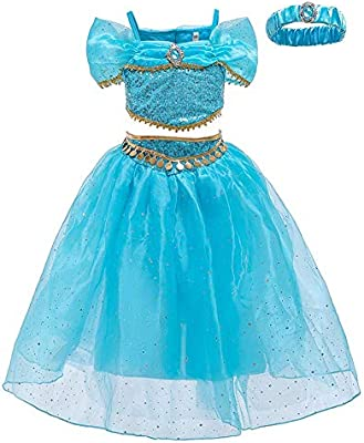OwlFay Disfraz de Princesa Jazmín Vestidos de Carnaval Fiesta ...