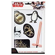 Official Licensed Star Wars The Last Jedi Set of 6 Leather-Look Stickers