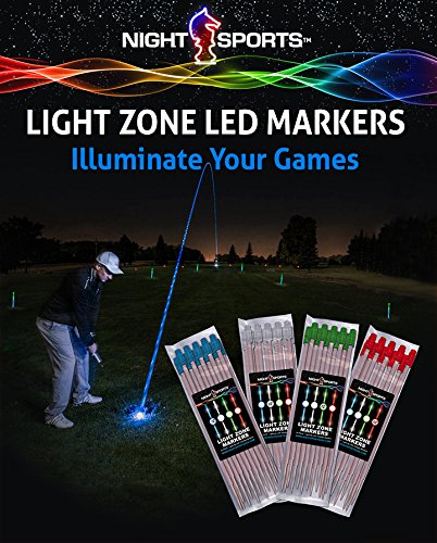 Night Sports USA Light Zone Golf Markers with 48 Night Sticks for All Night Time Activity]()