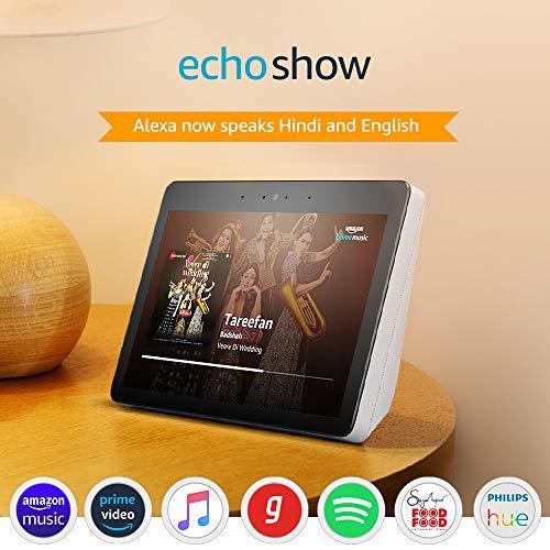 Echo Show – Premium sound and a vibrant 10.1″ HD screen – White