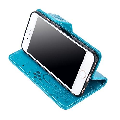 ZeWoo Folio Ledertasche - LD109 / Klassisches blau - für Apple iPhone 6 (4.7 Zoll) PU Leder Tasche Brieftasche Case Cover