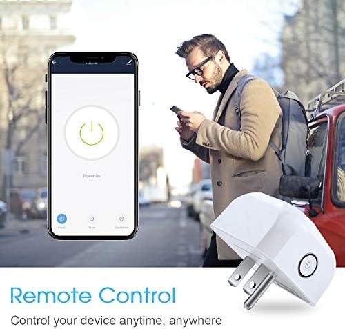 Smart Plug  Juanwe Wifi Smart Plug 2 Pack Work With Amazon