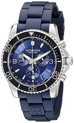 Victorinox Men's 241690 Maverick Chrono Analog Display Swiss Quartz Blue Watch