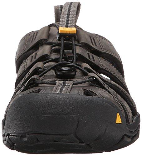 Keen Clearwater CNX Leather, Sandali da Arrampicata Uomo Nero (Magnet/Black Magnet/Black)