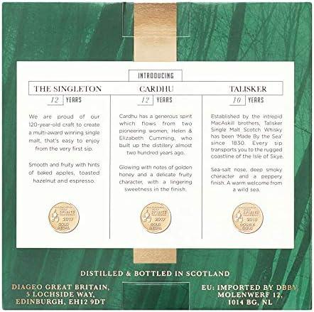 Estuche de regalo whisky escocés puro de malta: Talisker 10, Cardhu 12, Singleton 12 pack 3 botellas x 50 ml - 150 ml